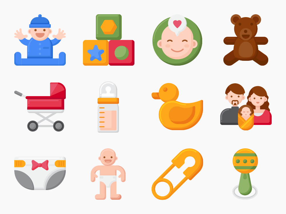 Baby Maternity Icon Set Featured Image