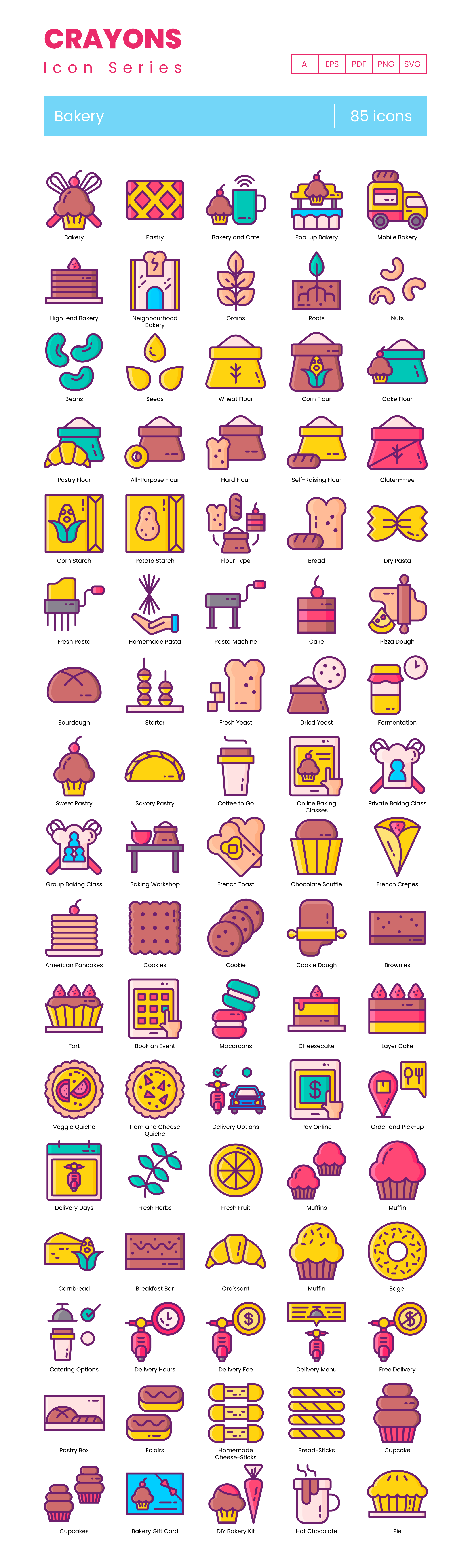 Bakery Vector Icons Preview Image