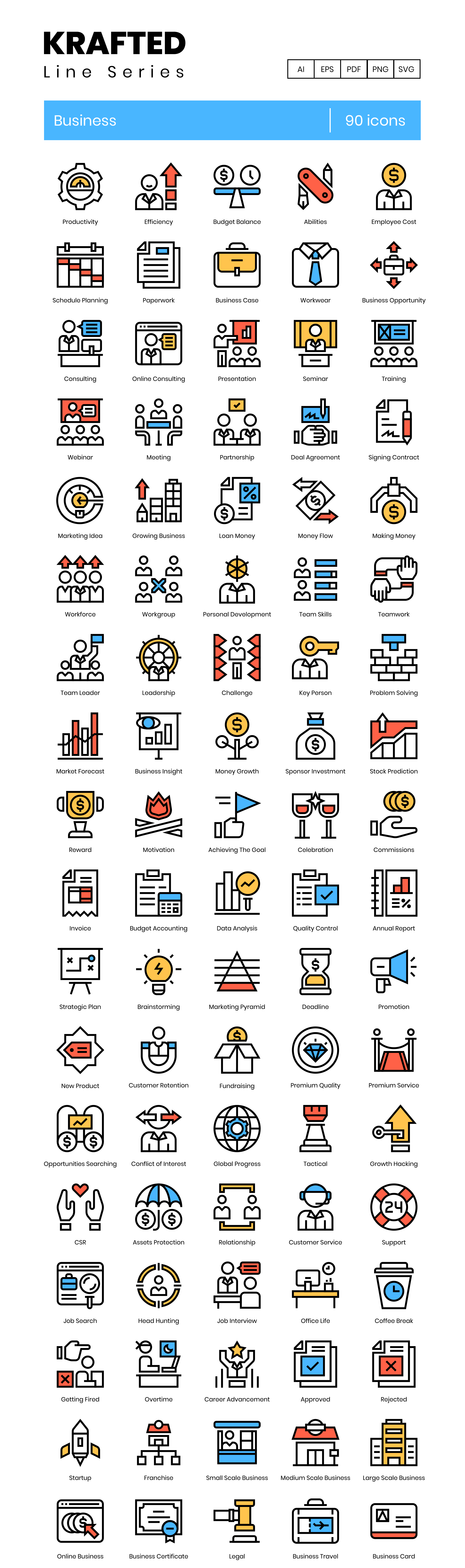 Company Vector Icons Preview Image