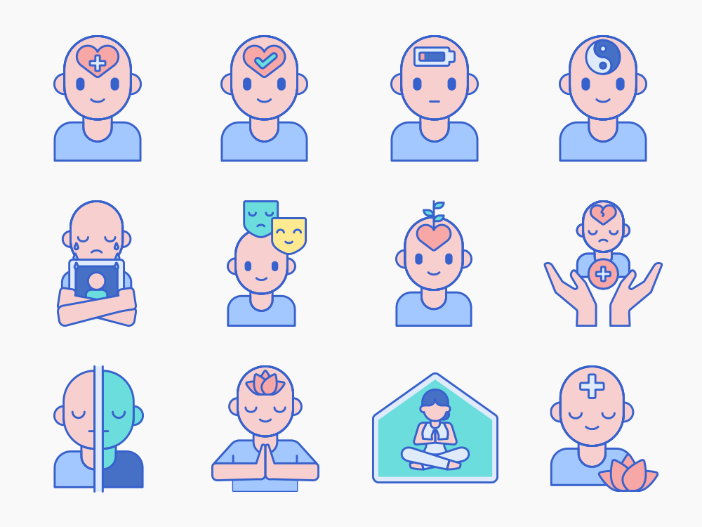 Mental Health Icon Set Featured Image