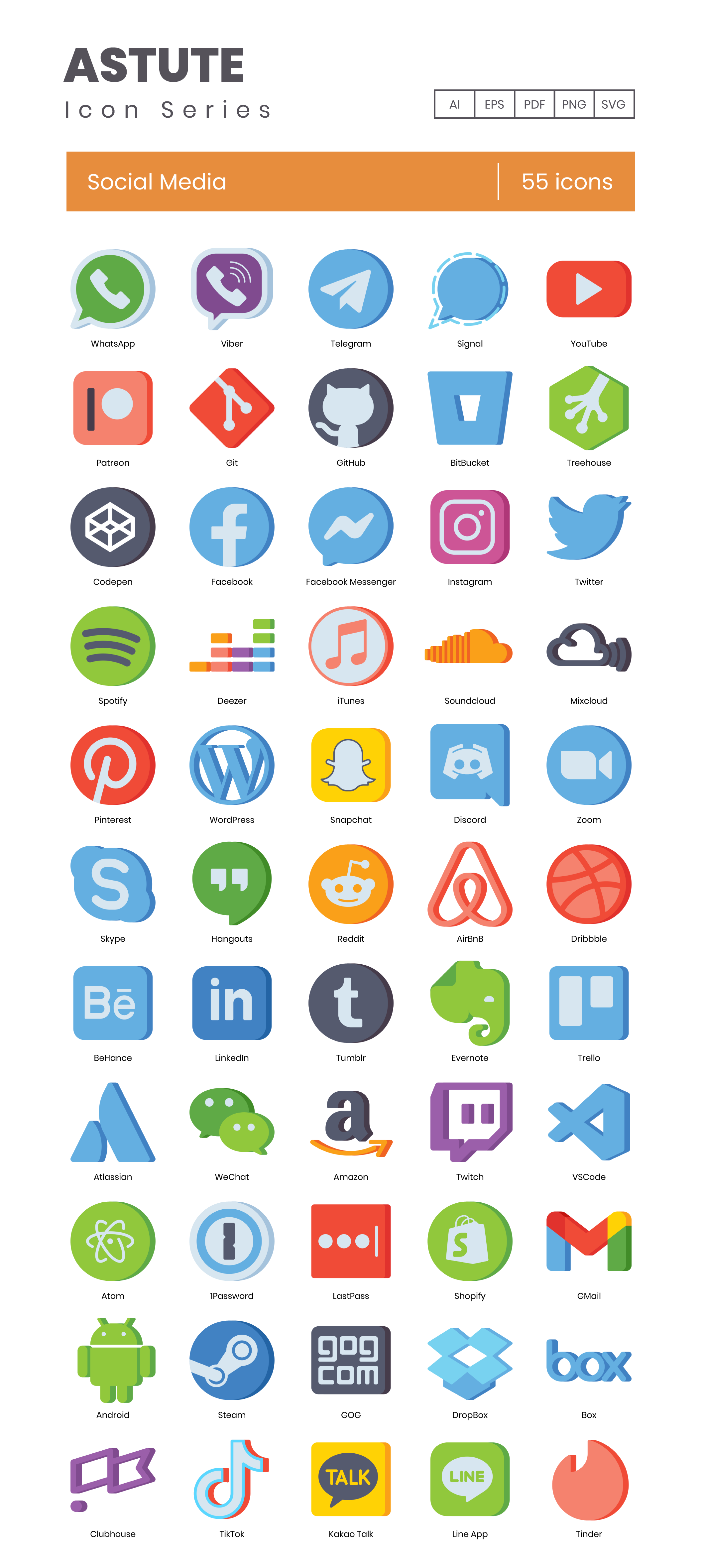Aesthetic App Vector Icons Preview Image