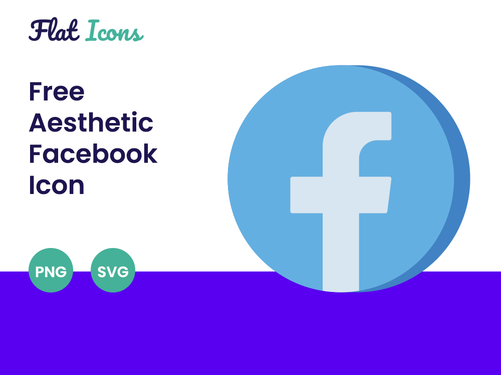 Aesthetic Facebook Icon PNG SVG Free Download