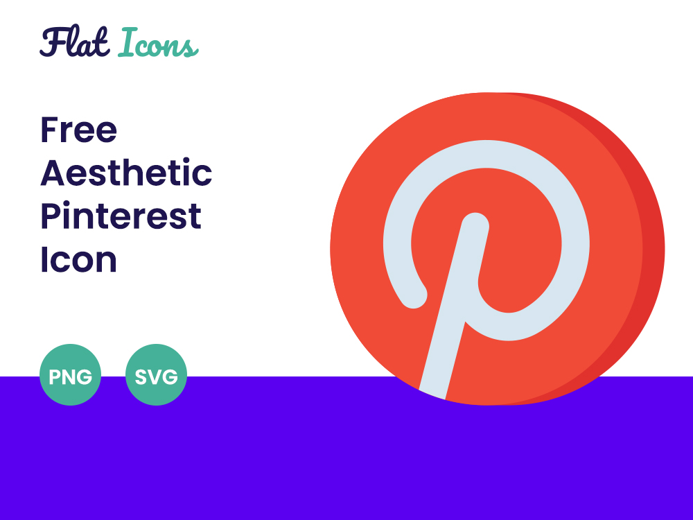 Aesthetic Pinterest Icon PNG SVG Free Download