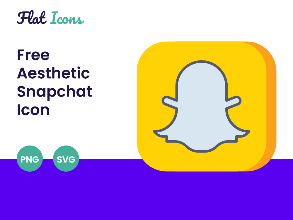 Aesthetic Snapchat Icon PNG SVG Free Download