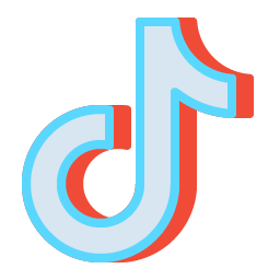 TikTok Icon Aesthetic Free Red Blue PNG SVG