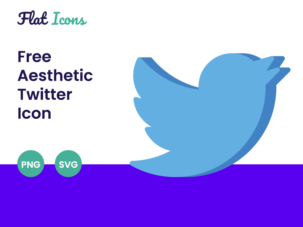 Aesthetic Twitter Icon PNG SVG Free Download