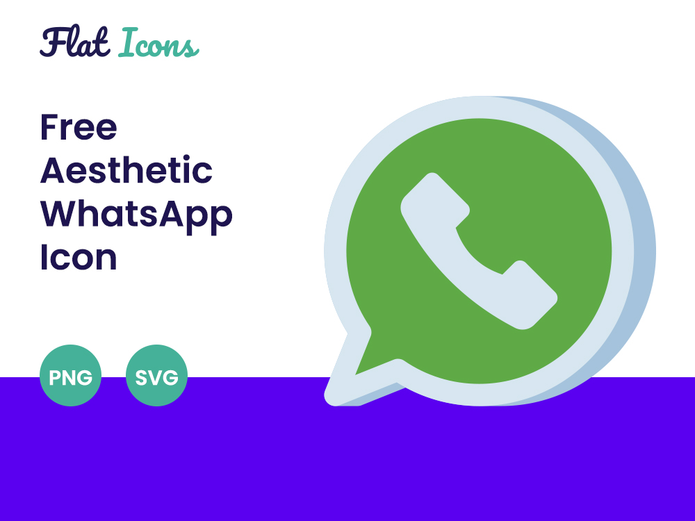 Aesthetic Whatsapp Icon PNG SVG Free Download
