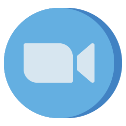 Zoom Icon Aesthetic Free Blue PNG SVG