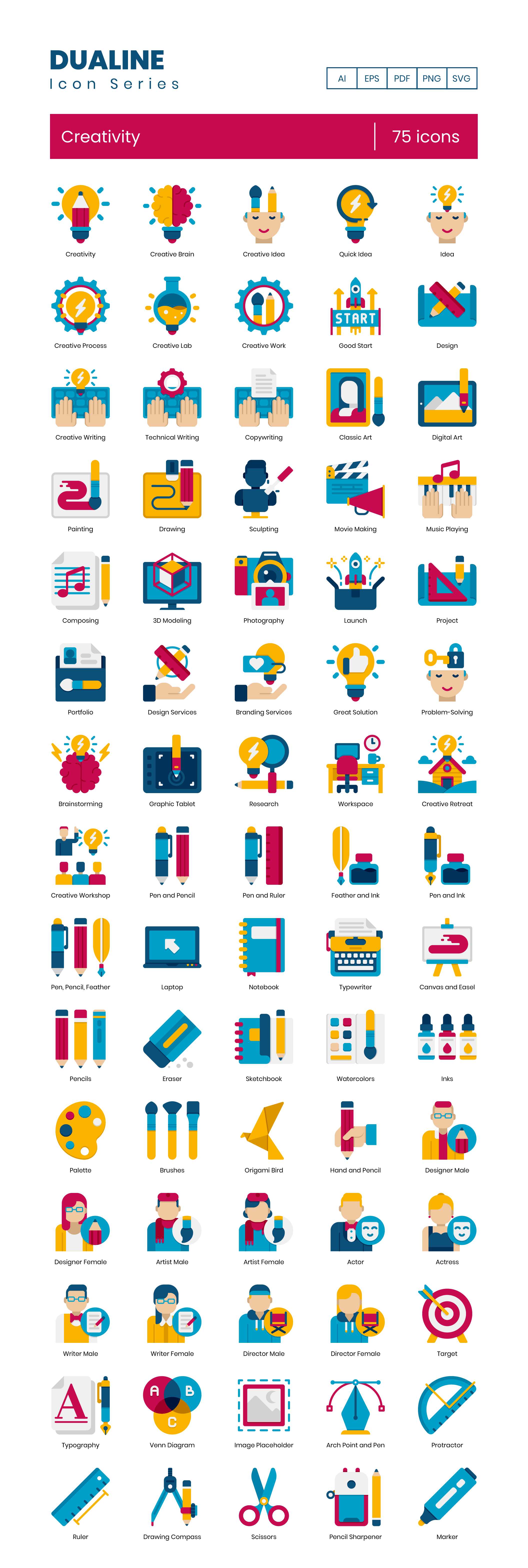 Creativity Vector Icons Preview Image