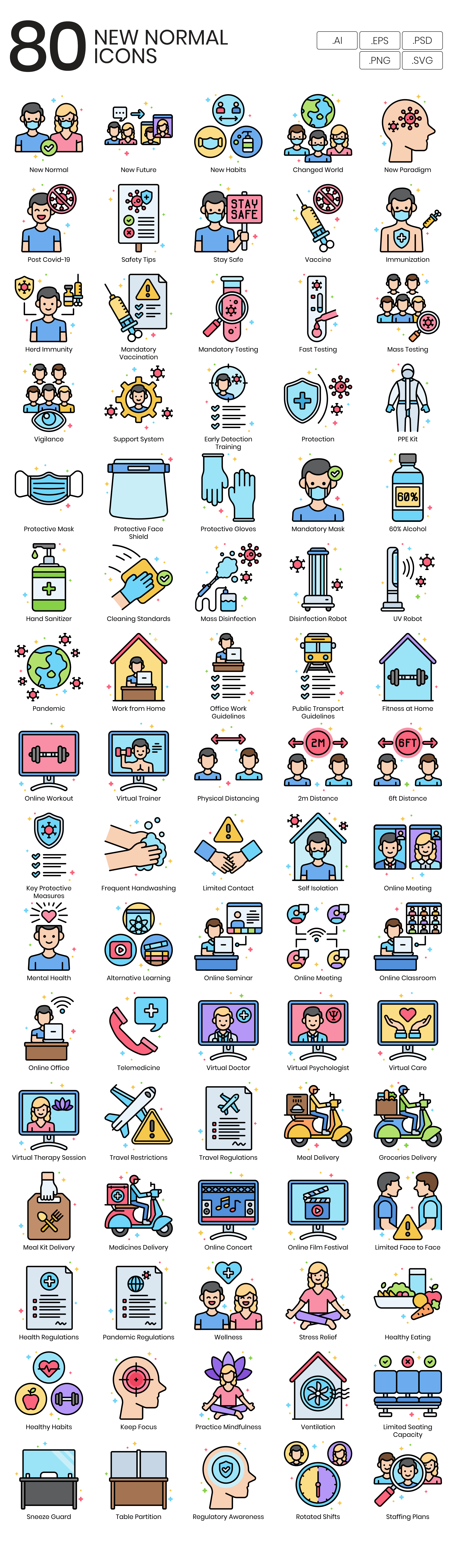 Preview Image for New Normal Vector Icons